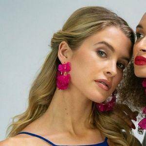 Stella & Ruby chiffon petals earrings